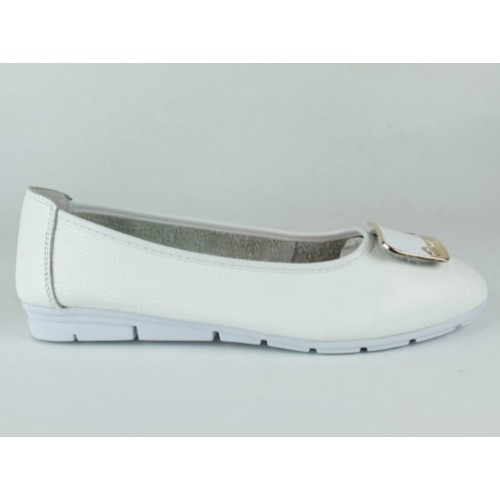 Балетки  женские 55033-2-white-OK
